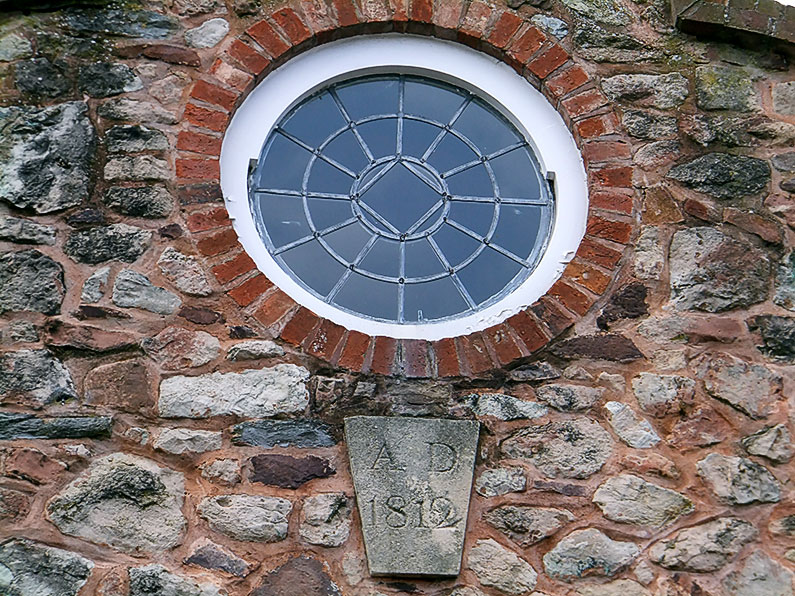 Date Stone 1812 and Round Window Thomas Poole Library Nether Stowey