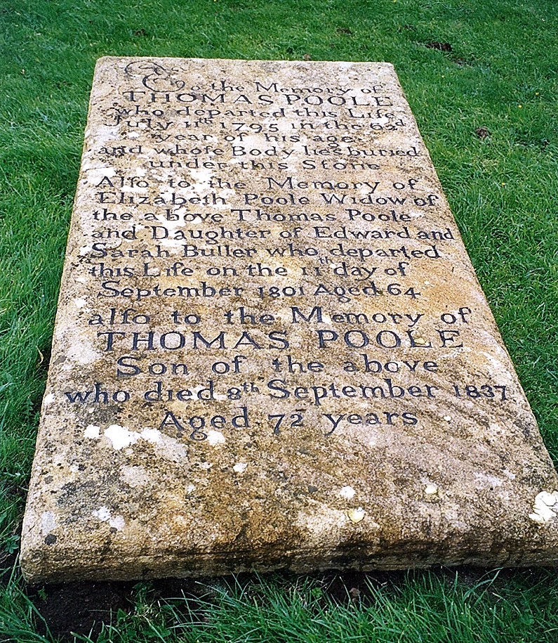 The Grave of Thomas Poole Nether Stowey