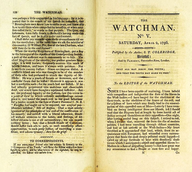 The Watchman Article from Thomas Poole - He was Anti Slavery